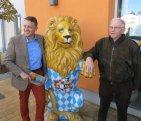Drei bayerische Löwen